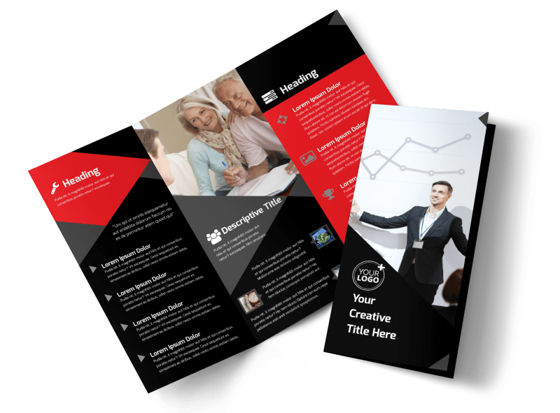 Financial Analysis Consulting Brochure Template Preview 1