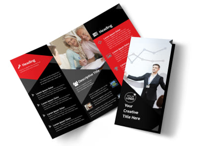 Financial Analysis Consulting Tri-Fold Brochure Template preview