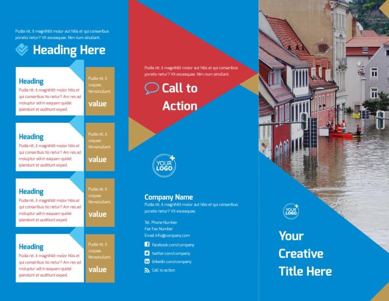 Flood Insurance Brochure Template Preview 2