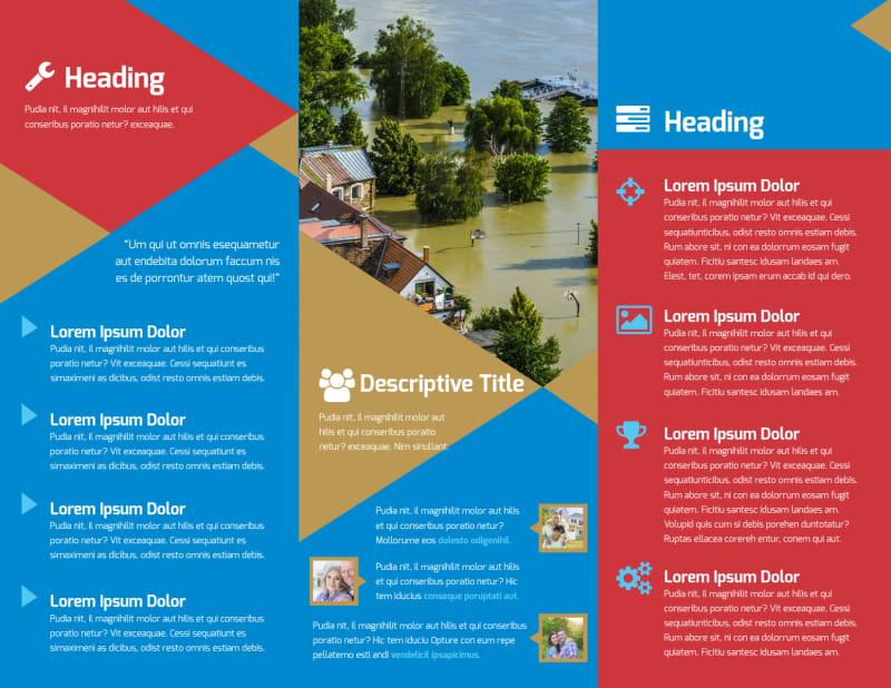 Flood Insurance Brochure Template Preview 3