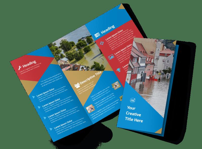 Flood Insurance Brochure Template Preview 1