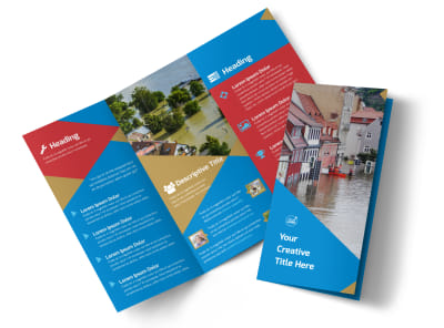 Flood Insurance Tri-Fold Brochure Template