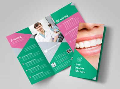 Dental Surgery Center Tri-Fold Brochure Template preview