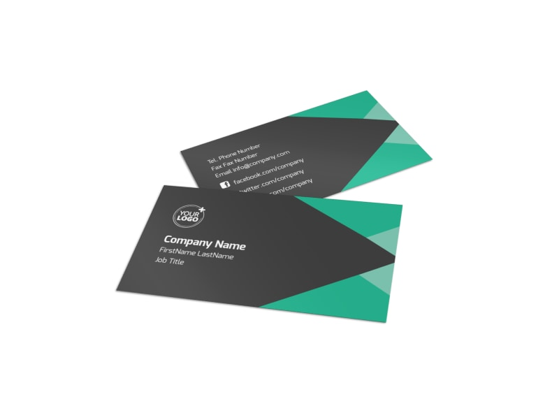 Computer Education Business Card Template Preview 4