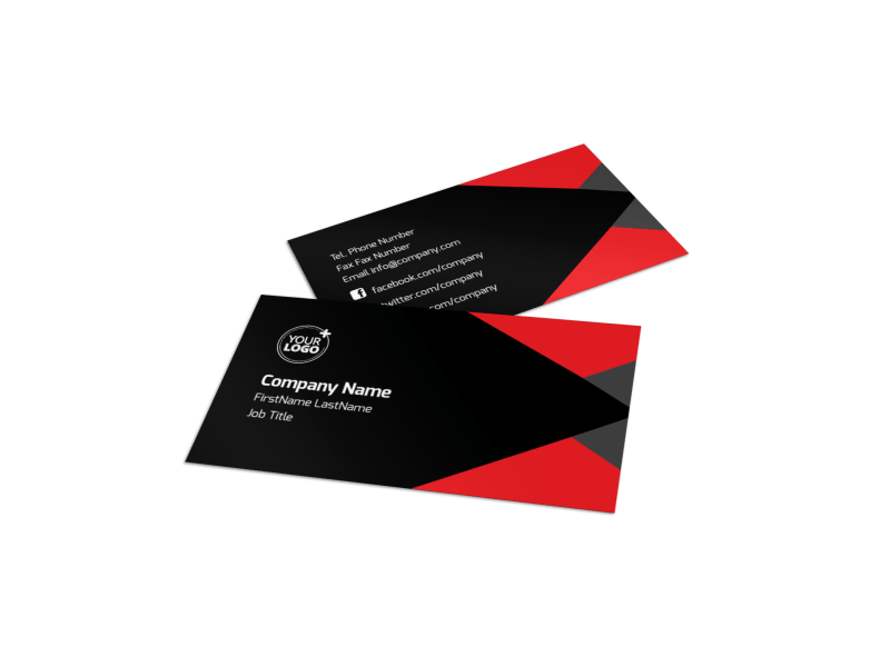 Financial Analysis Consulting Business Card Template Preview 1