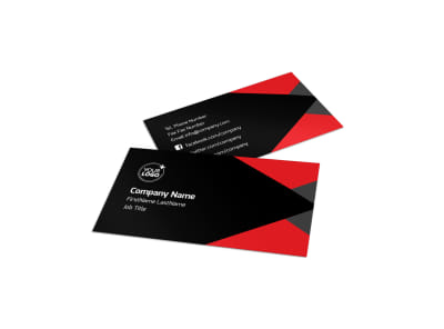 Financial Analysis Consulting Business Card Template