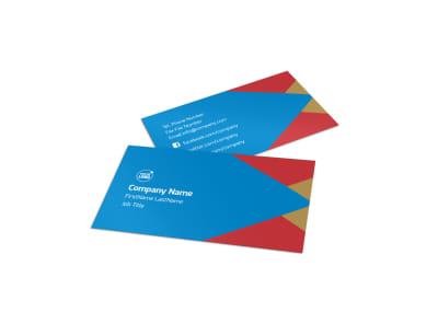 Flood Insurance Business Card Template preview