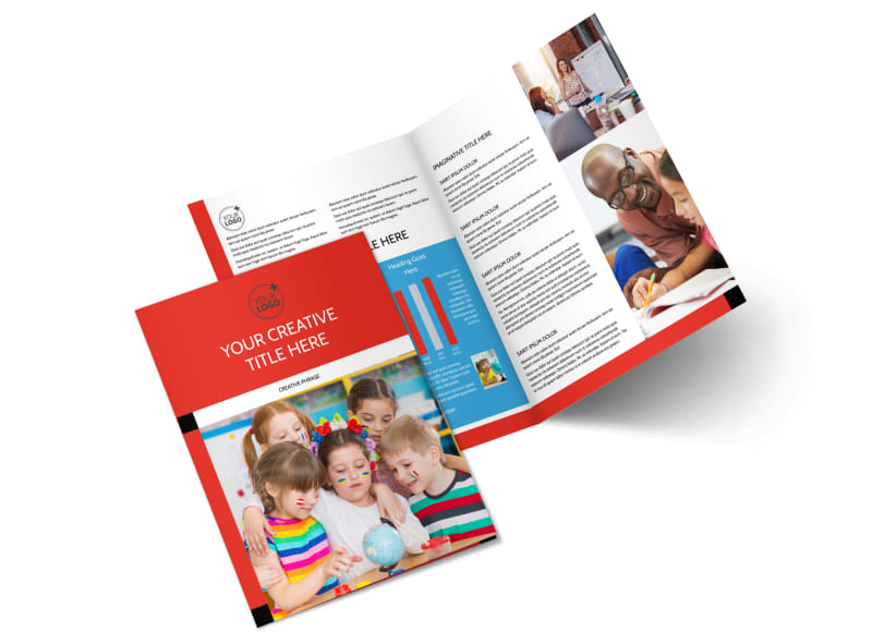 Language Learning Bi-Fold Brochure Template 2