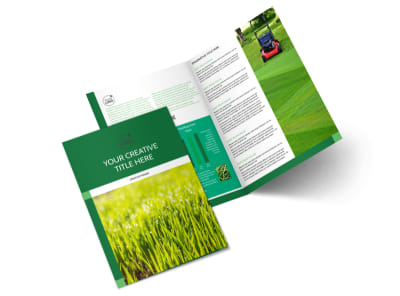 Lawn Care & Mowing Bi-Fold Brochure Template 2 preview