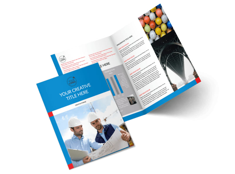 Engineering Consultants Bi-Fold Brochure Template 2