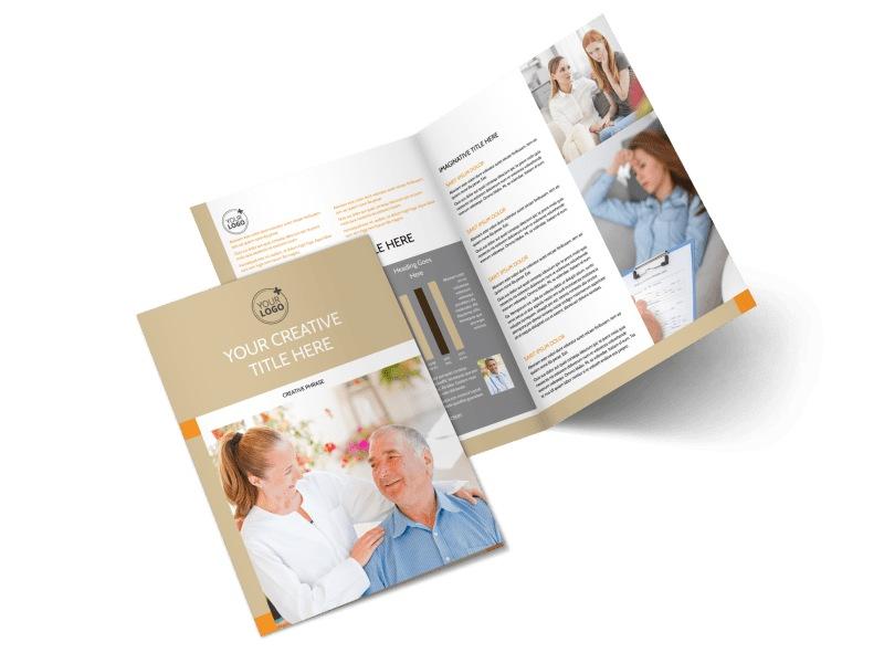 Mental Health Counseling Center Bi-Fold Brochure Template 2