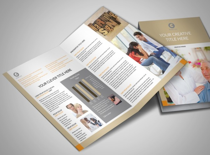 counseling brochure templates free - mental health counseling center bi fold brochure template