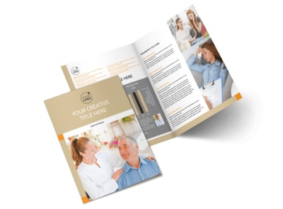 Mental Health Counseling Center Bi-Fold Brochure Template 2
