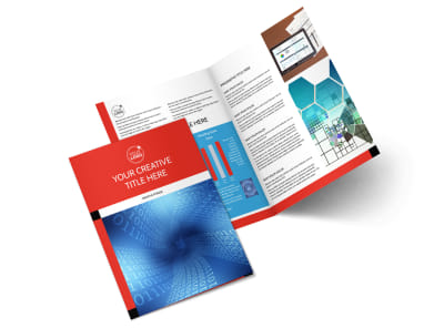 Data Analysis Consulting Bi-Fold Brochure Template 2