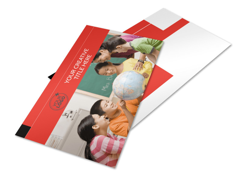 Language Learning Postcard Template 2