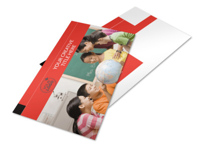 Language Learning Postcard Template 2 preview