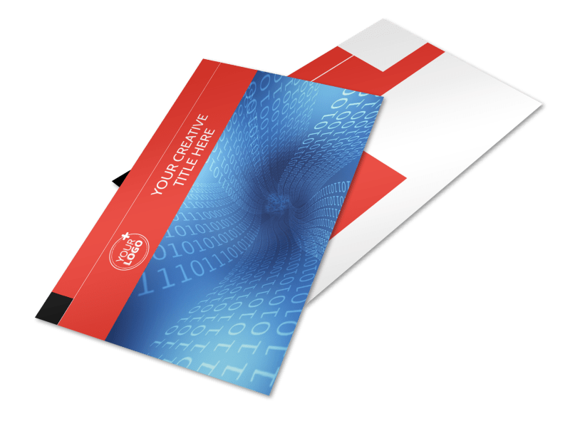 Data Analysis Consulting Postcard Template Preview 1