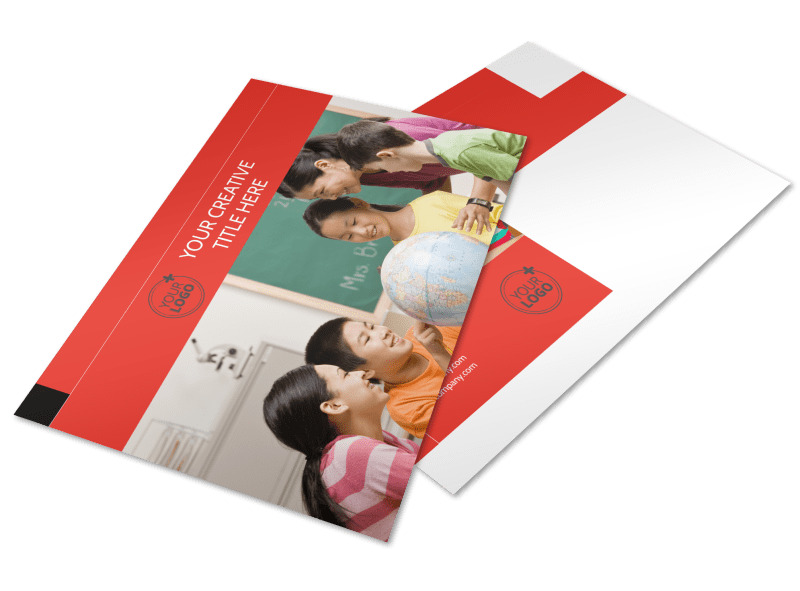 Language Learning Postcard Template Preview 4