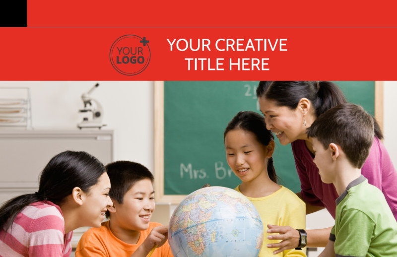 Language Learning Postcard Template Preview 2