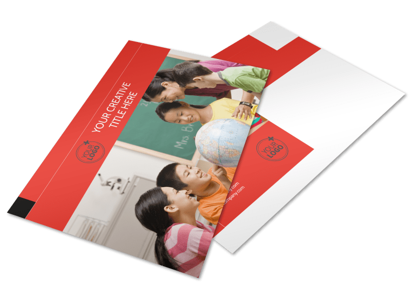 Language Learning Postcard Template Preview 1