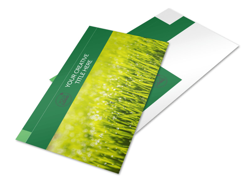 Lawn Care & Mowing Services Postcard Template