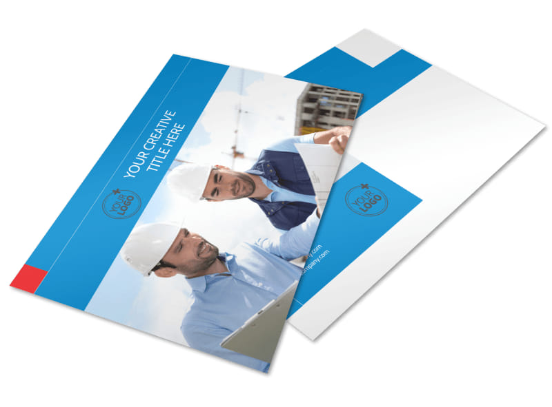 Engineering Consultants Postcard Template Preview 4