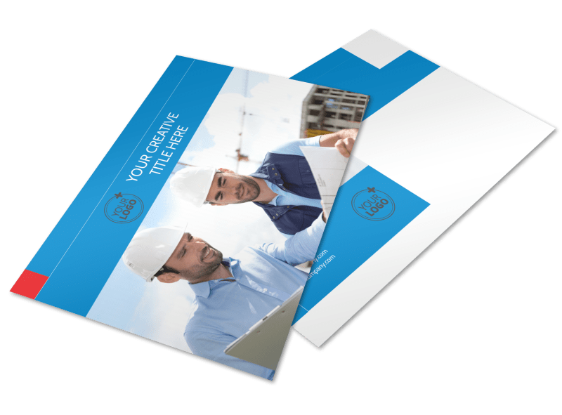 Engineering Consultants Postcard Template Preview 1