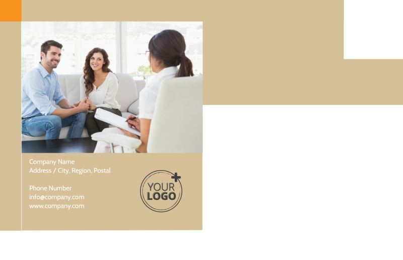 Mental Health Counseling Center Postcard Template Preview 3