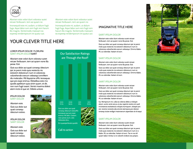 Lawn Mowing Brochure Template Preview 3