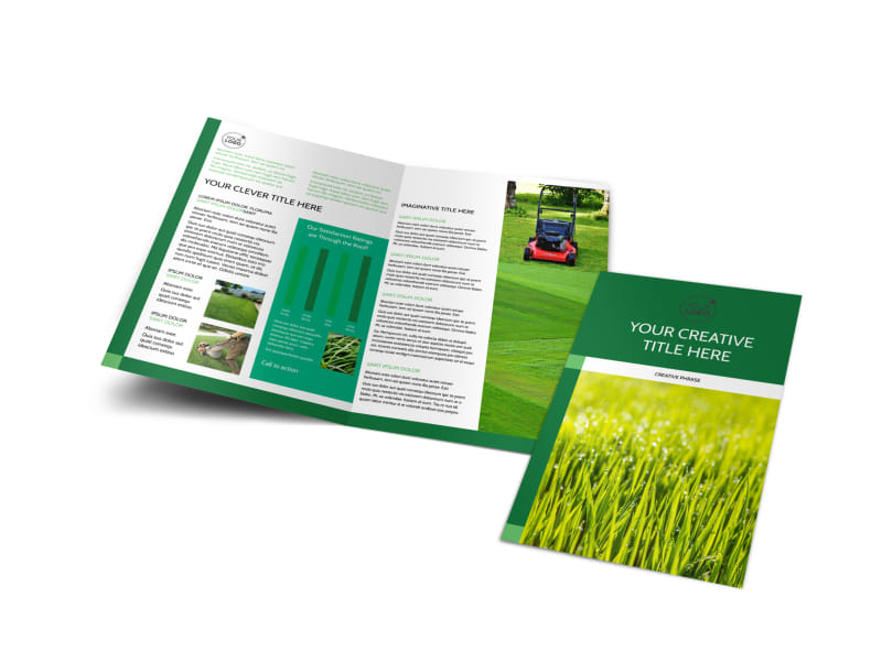 Lawn Mowing Brochure Template Preview 4
