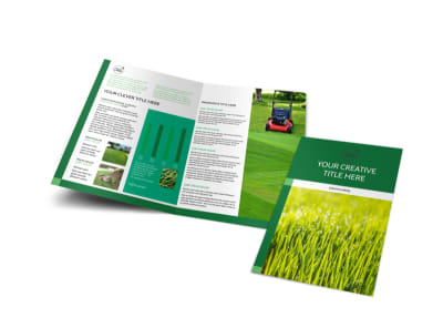 Lawn Care & Mowing Bi-Fold Brochure Template preview