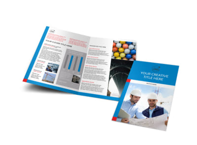 Engineering Consultants Bi-Fold Brochure Template