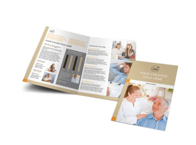 Mental Health Counseling Center Bi-Fold Brochure Template preview