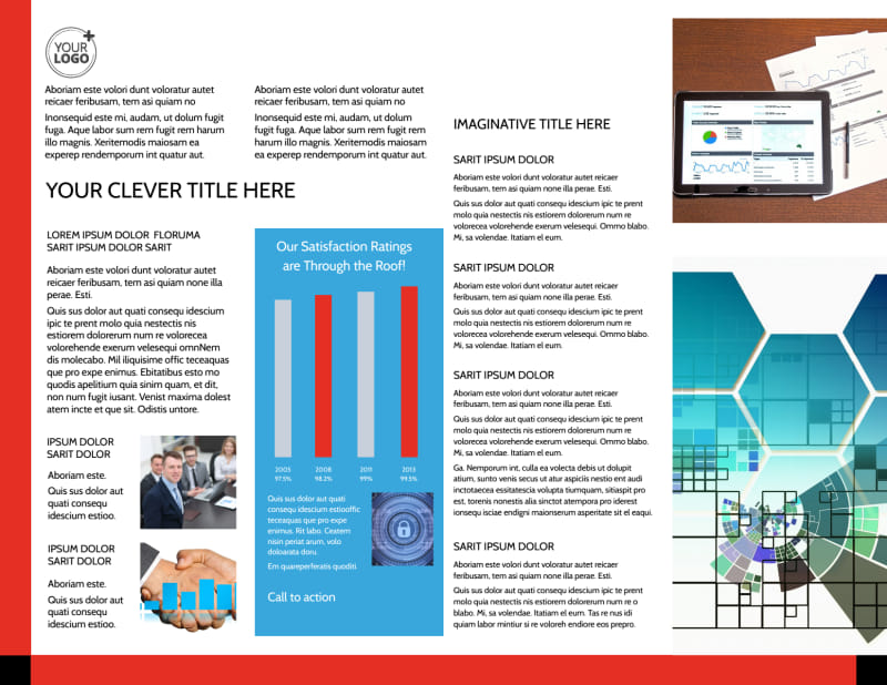 Data Analysis Consulting Brochure Template Preview 3
