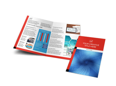 Data Analysis Consulting Bi-Fold Brochure Template