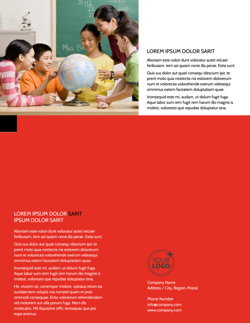 Language Learning Flyer Template Preview 3