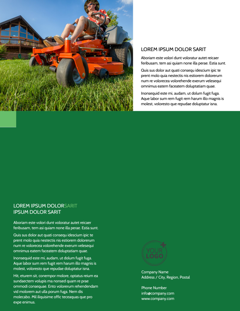 Lawn Mowing Flyer Template Preview 3