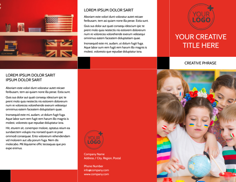 Language Learning Brochure Template Preview 2