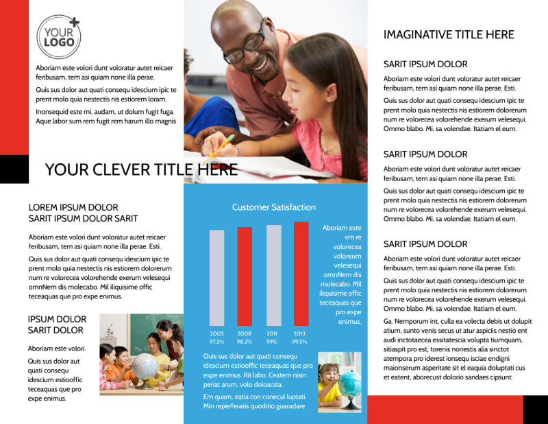 Language Learning Brochure Template Preview 3