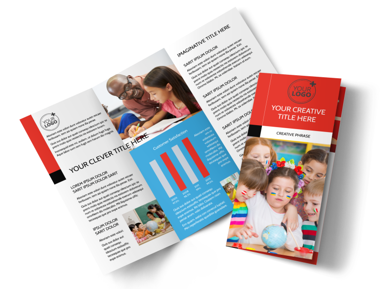 Language Learning Brochure Template Preview 1
