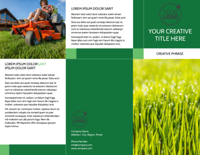 Lawn Mowing Brochure Template Preview 1