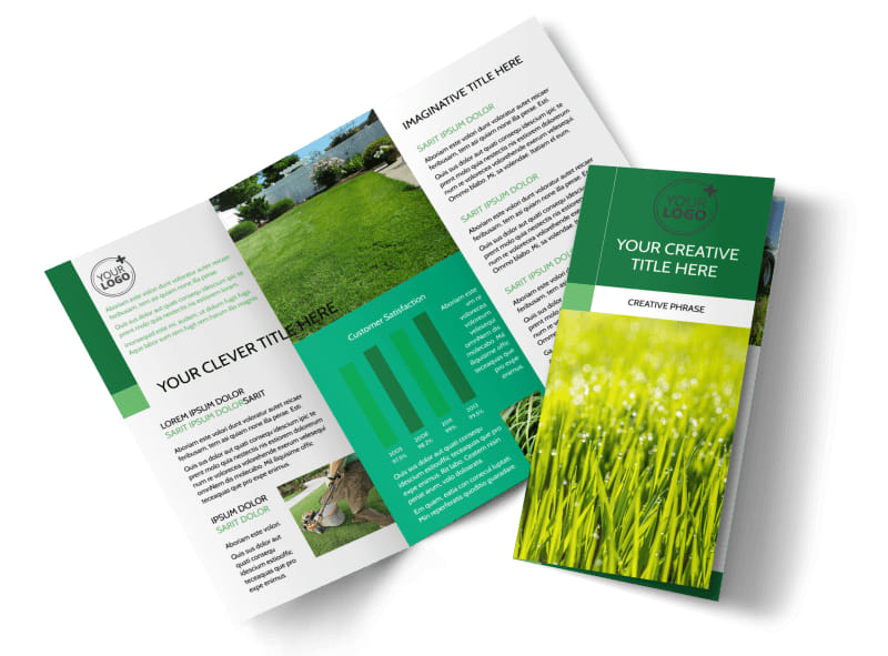 Lawn Mowing Brochure Template  Mycreativeshop