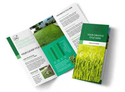 Lawn Care & Mowing Services Brochure Template preview