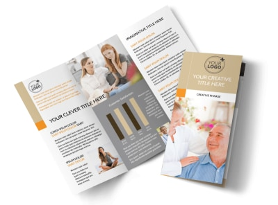 Mental Health Counseling Center Tri-Fold Brochure Template preview