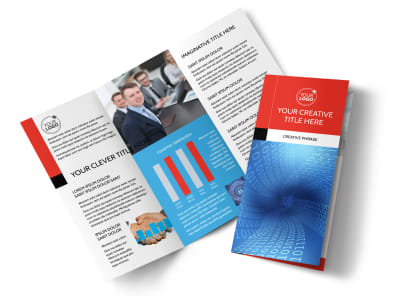 Data Analysis Consulting Tri-Fold Brochure Template preview
