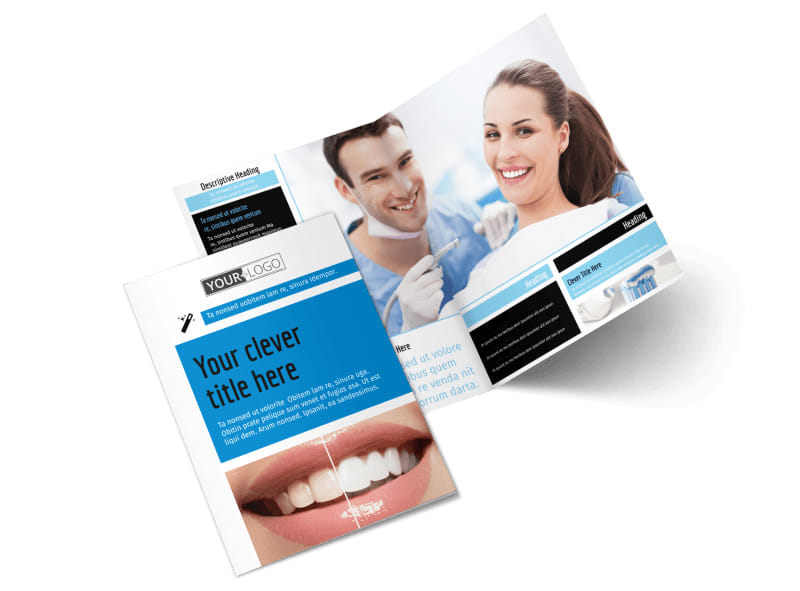 Dental Teeth Whitening Bi-Fold Brochure Template 2