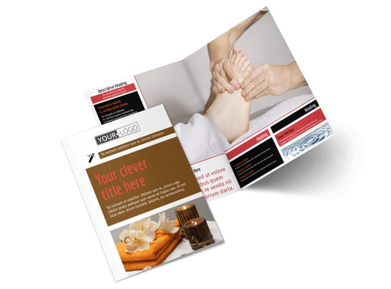 Reflexology Bi-Fold Brochure Template 2