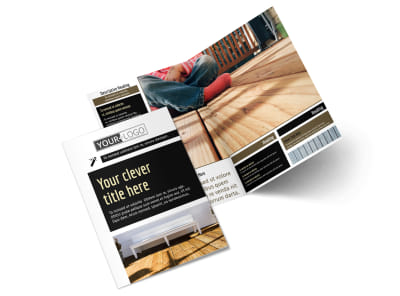 Decking Service Bi-Fold Brochure Template 2