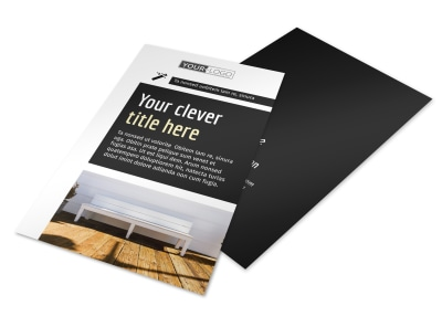 Decking Service Flyer Template 3