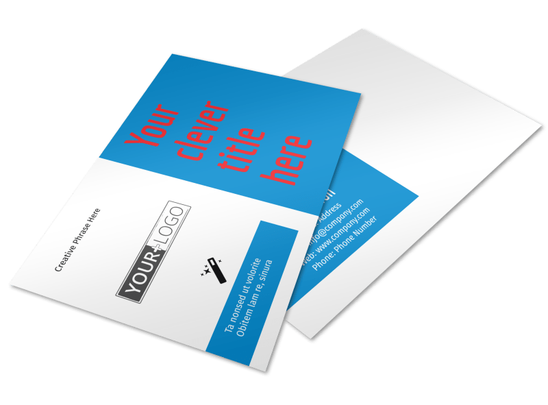 Automotive Repair Center Postcard Template Preview 1